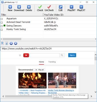 gbVideoLoop - Play YouTube Video List Repeatedly